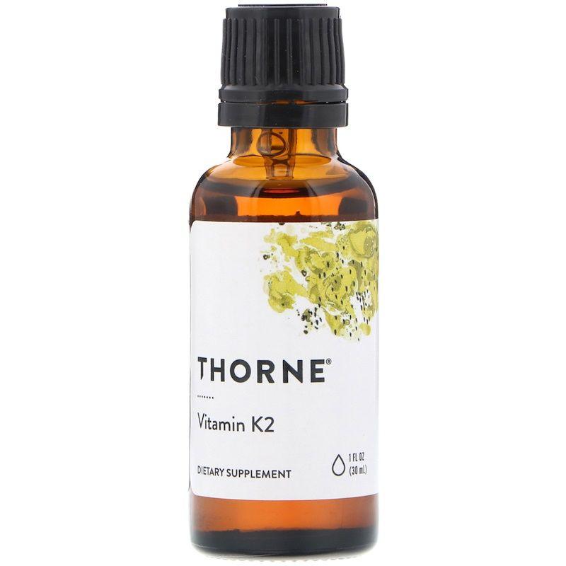 Витамин К2 ( Vitamin K2), Thorne Research, жидкий, 30 мл
