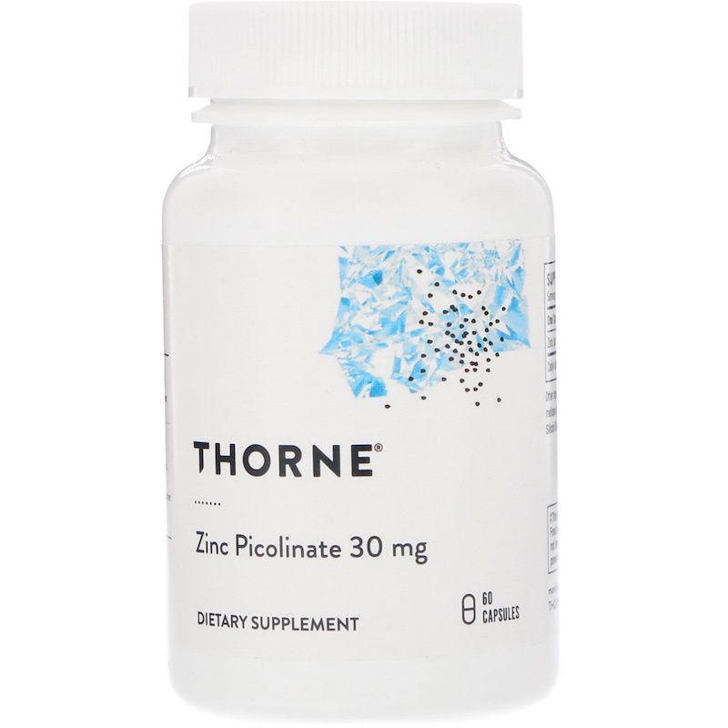 Цинк пиколинат усиленный, Zinc Picolinate, Thorne Research, 60 капсул