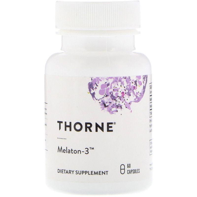 Мелатонин-3, Thorne Research, 60 капсул