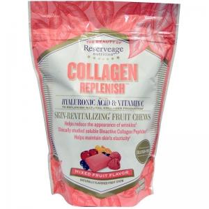 Коллаген, ReserveAge Organics, 60 жевательных конфет