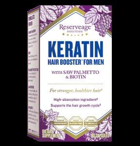 ReserveAge Nutrition, Keratin Booster for Men, 60 Veggie Caps
