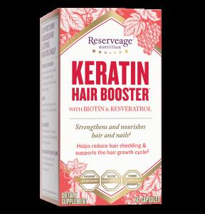 Комплекс для волос и ногтей, Keratin Hair Booster, ReserveAge Nutrition, 60 капсул