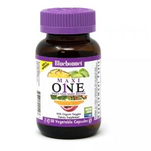 Мультивитамины c железом, MAXI ONE With Iron, Bluebonnet Nutrition, 30 вегетарианских капсул
