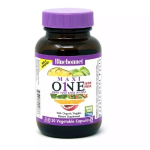 Мультивитамины без железа, MAXI ONE Iron Free, Bluebonnet Nutrition, 30 вегетарианских капсул