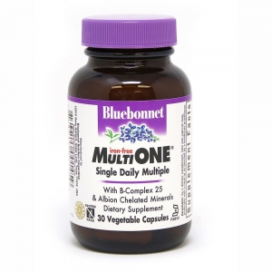 Мультивитамины без железа, MultiONE, Bluebonnet Nutrition