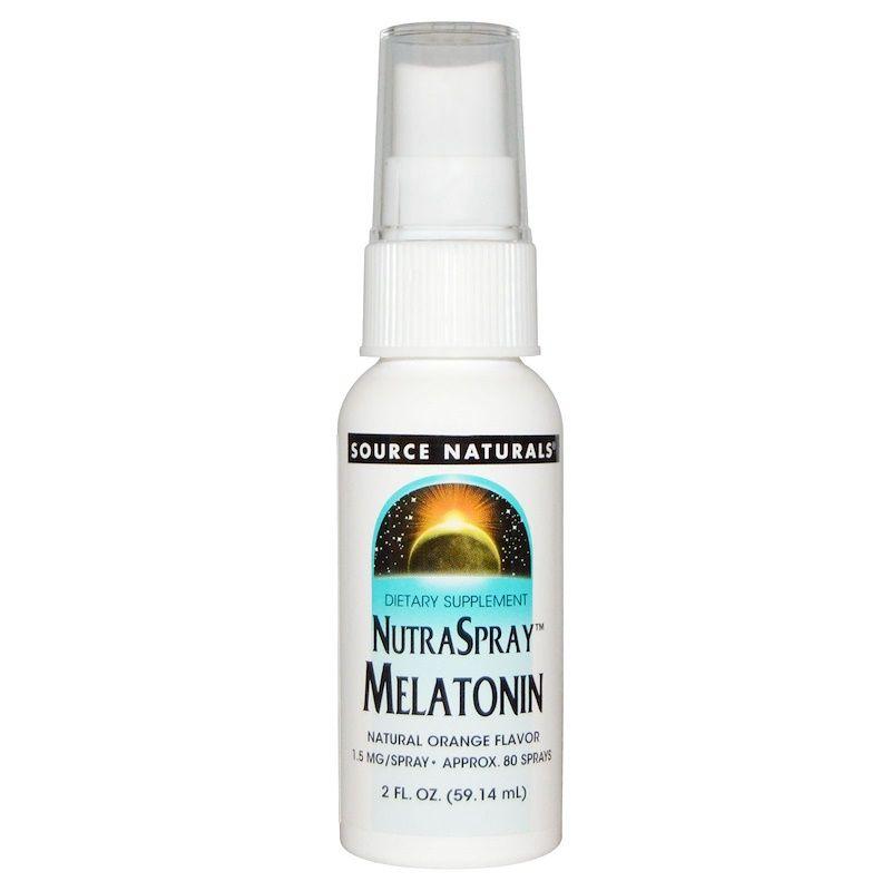 Мелатонин (вкус апельсина), Source Naturals, 59 мл