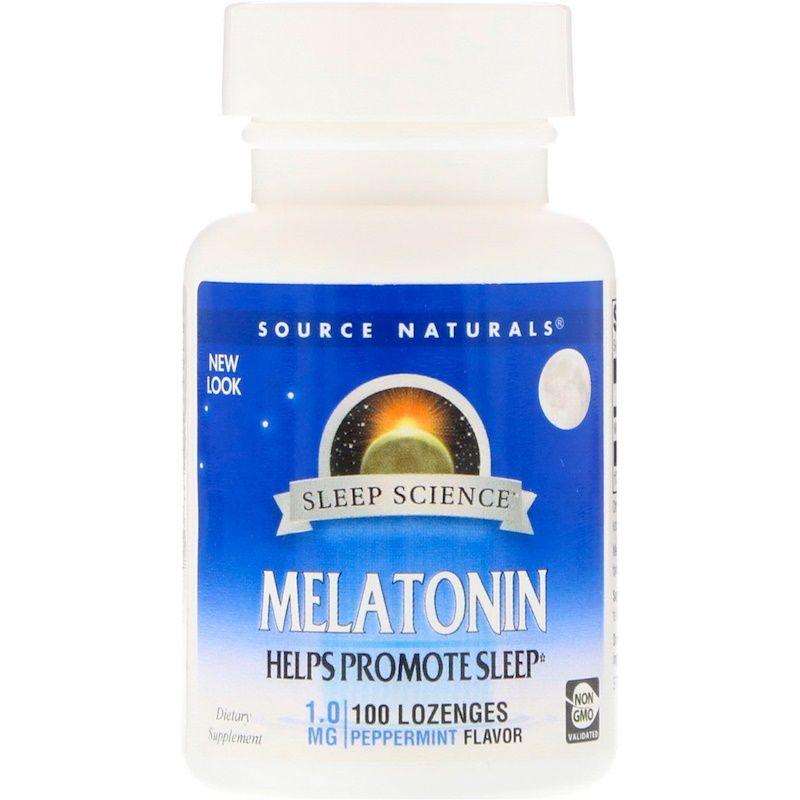 Мелатонин, Source Naturals, 100 таблеток
