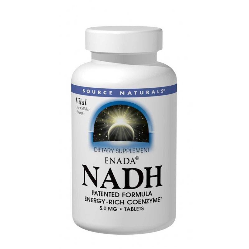 NADH, Source Naturals, 5.0 мг, 30 таблеток
