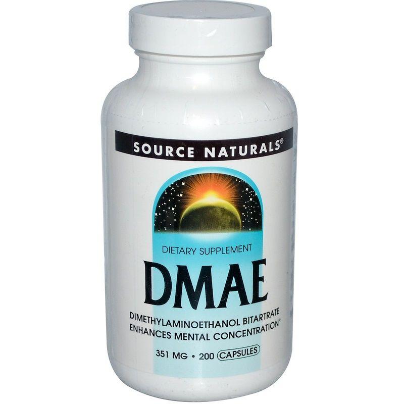 DMAE (Диметиламиноэтанол), Source Naturals, 200 капсул