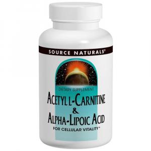 Ацетил -L карнитин +ALA, Source Naturals, 60 таблеток