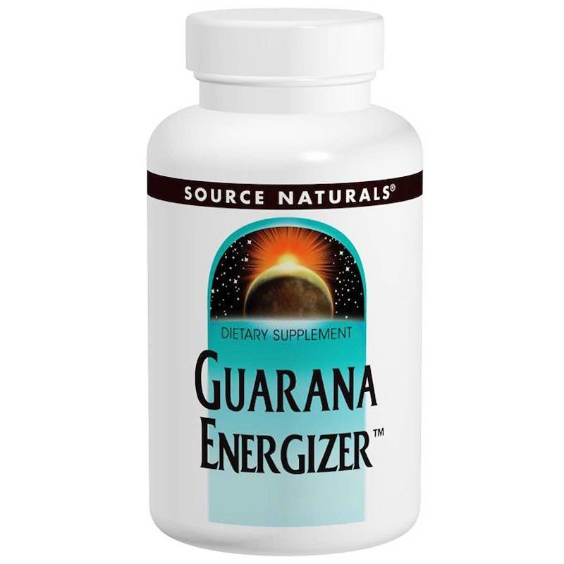 Гуарана 900 мг, Source Naturals, 60 таб.