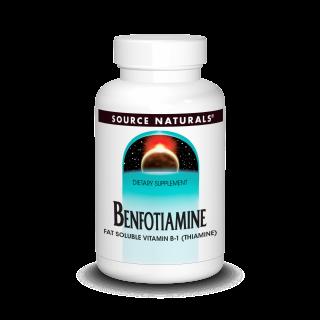 Бенфотиамин, Source Naturals, 150 мг, 30 таблеток