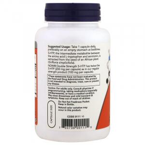 5-HTP, 5-гидрокси L-триптофан, Now Foods, 200 мг.