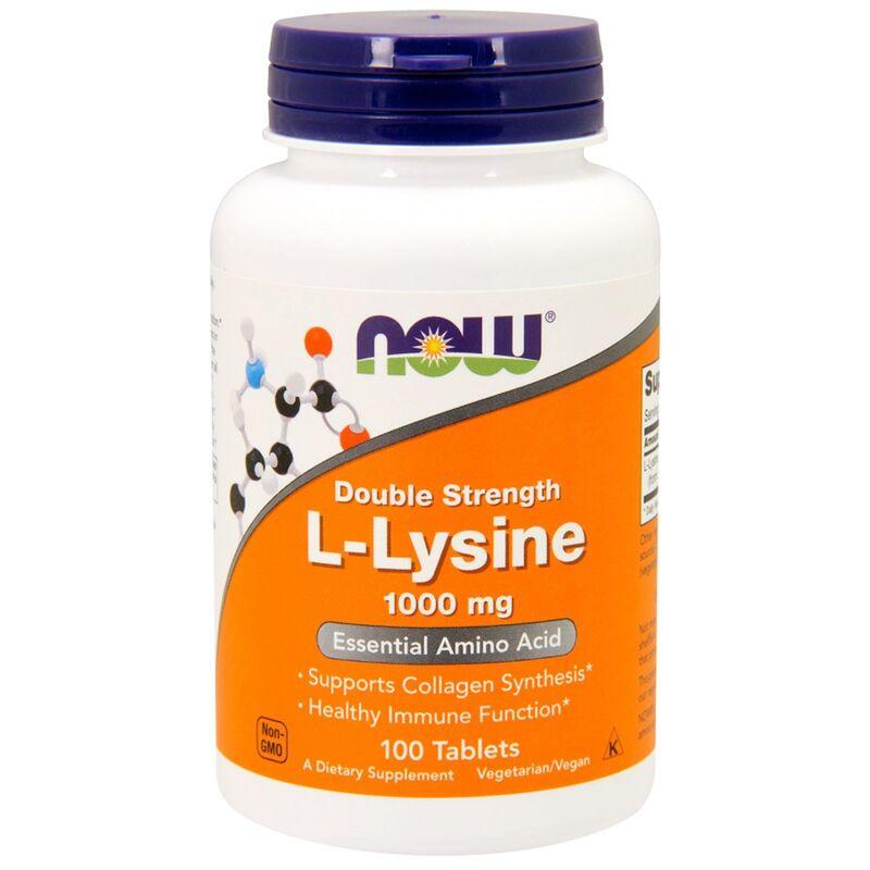 Лизин, L-Lysine, Now Foods, 1000 мг, 100 таблеток