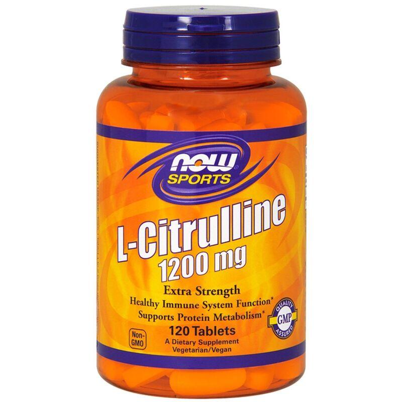 Цитруллин, L-Citrulline, Now Foods, Sports, 1200 мг, 120 таблеток