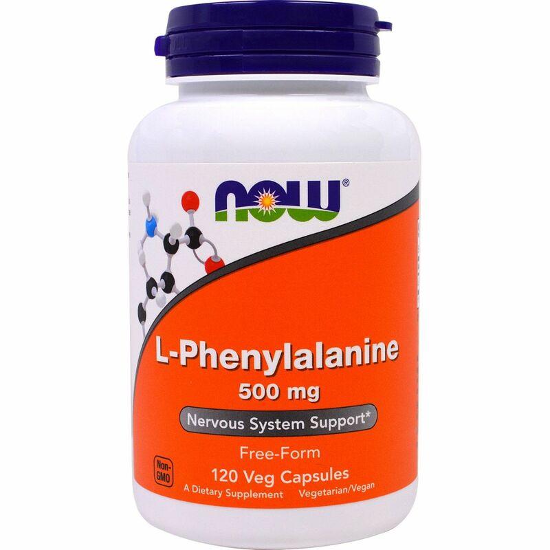 Фенилаланин, L-Phenylalanine, Now Foods, 500 мг, 120 капсул.