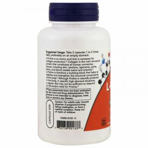 Пролин, L-Proline, Now Foods, 500 мг, 120 капсул