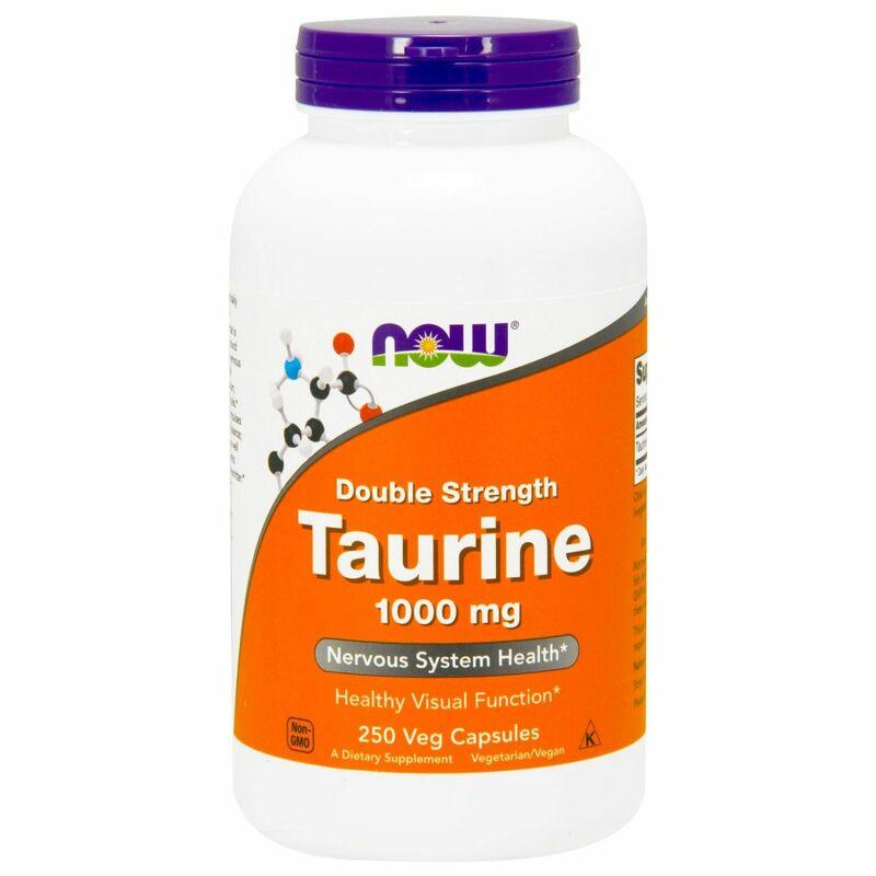 Таурин, Taurine, Now Foods, 1000 мг.