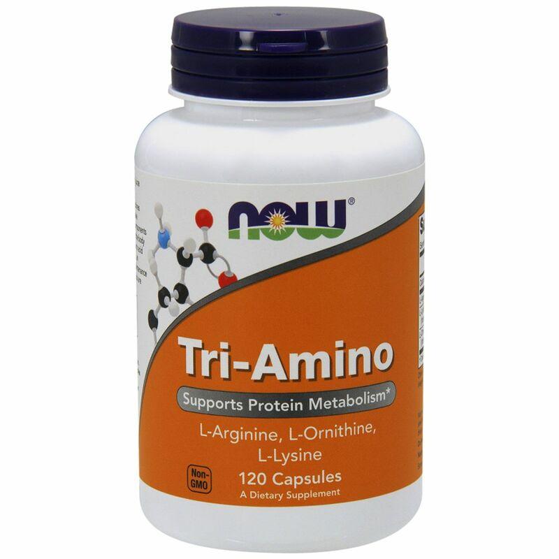 Аргинин, лизин и орнитин, Tri-Amino, Now Foods, 120 капсул