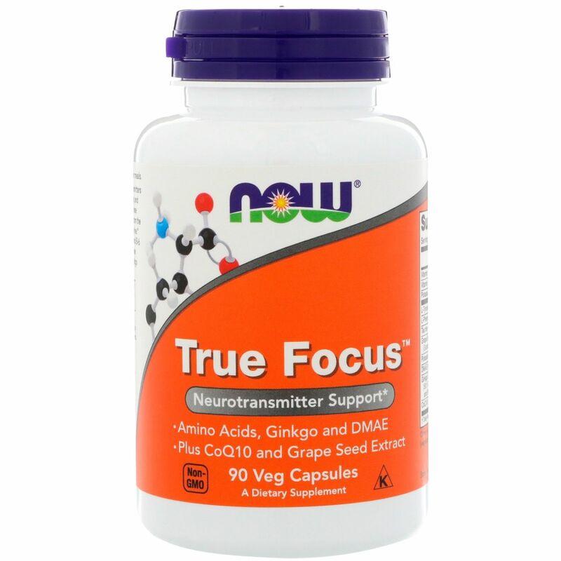 Тру Фокус, True Focus, Now Foods, 90 капсул.