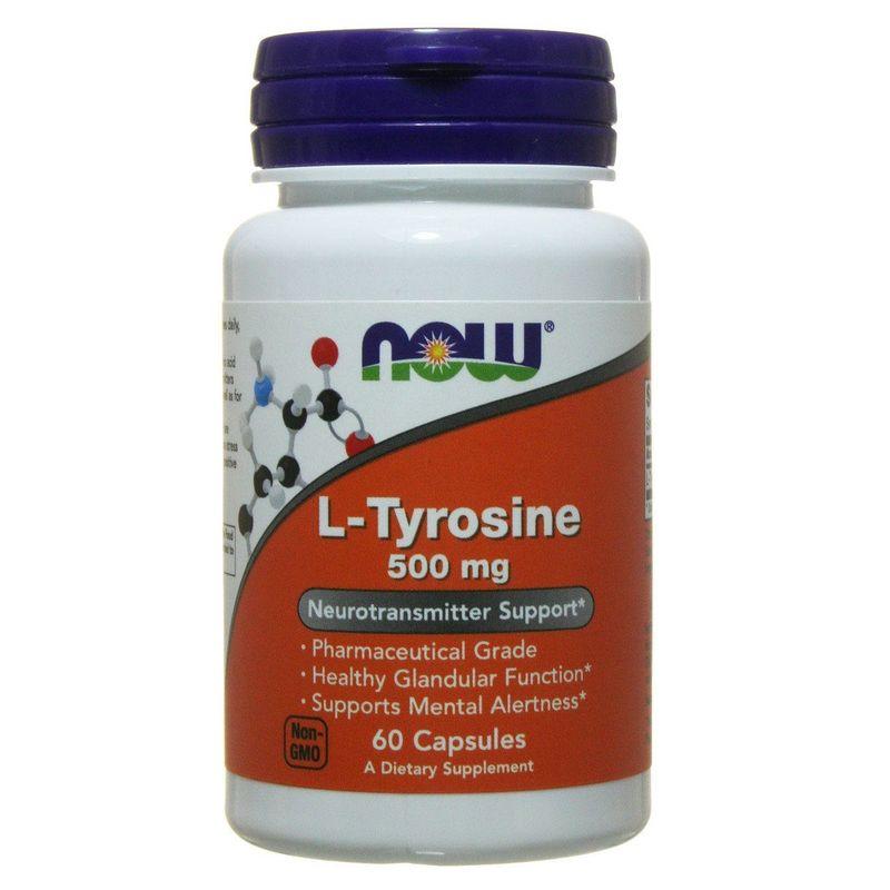 Тирозин, L-Tyrosine, Now Foods, 500 мг