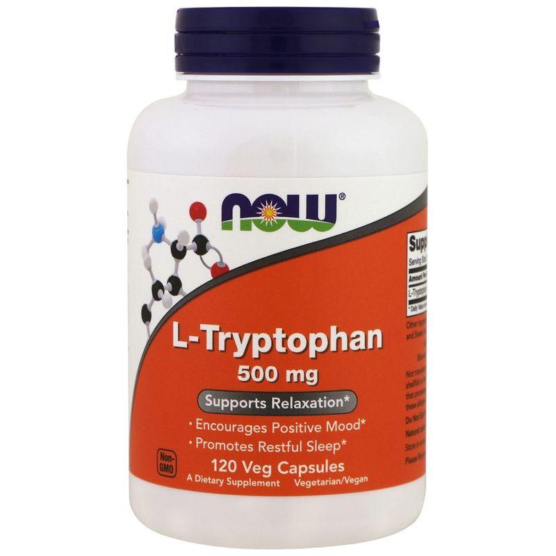Триптофан, L-Tryptophan, Now Foods, 500 мг