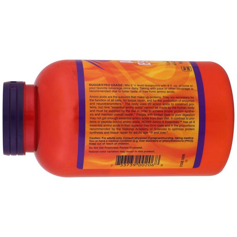 Аминокислоты, Amino-9 Essentials, Now Foods, Sports, порошок, 330 г