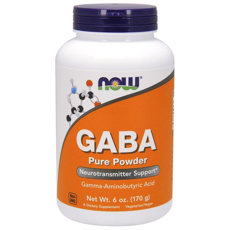 Гамма-аминомасляная кислота, GABA, Now Foods, порошок, 170 г