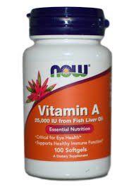 Витамин А, Now Foods, 25000 МЕ