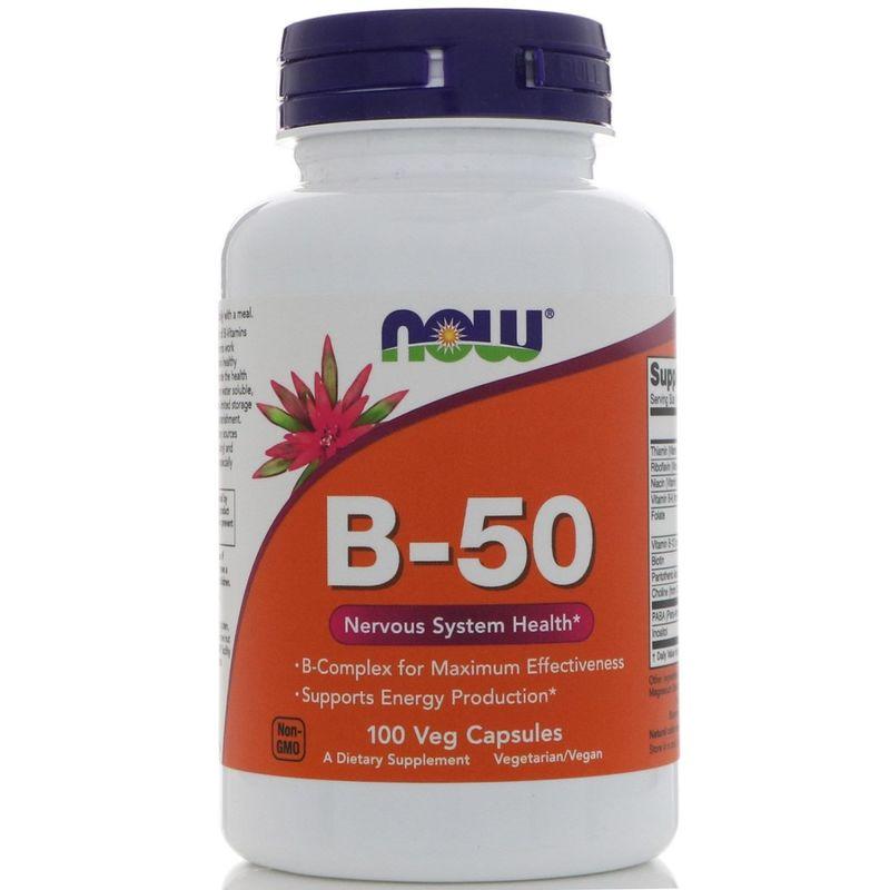 Витамины группы В, B-50, Now Foods