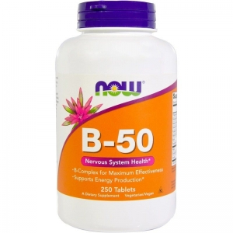 Витамин В-50 (комплекс), Now Foods