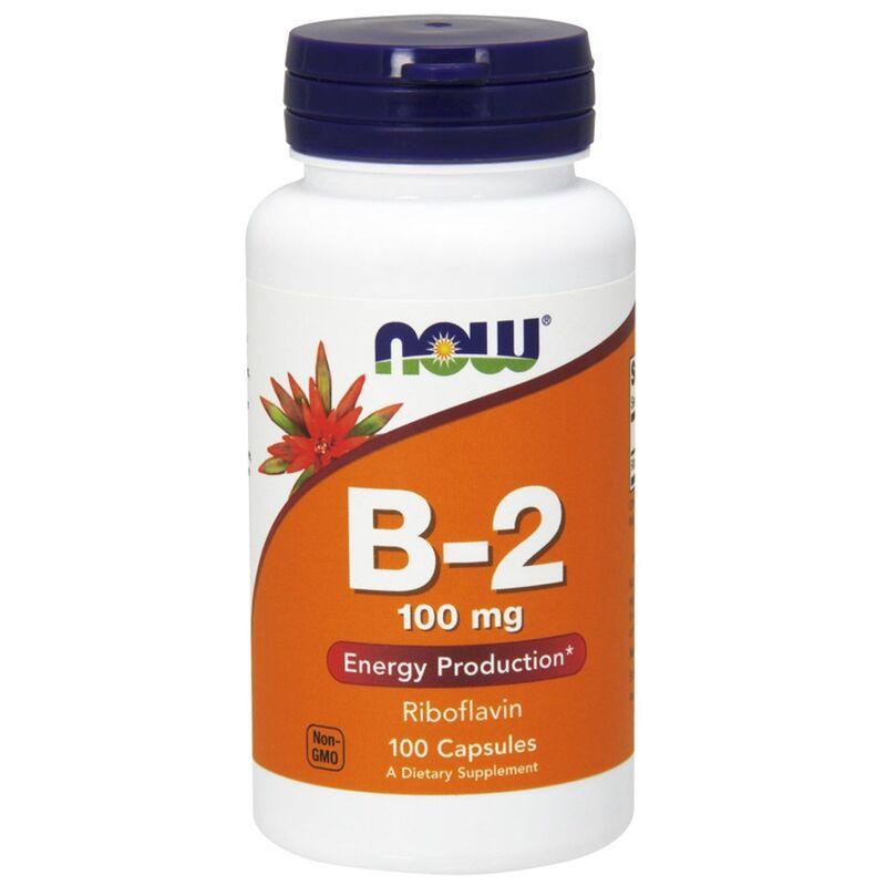 Рибофлавин, B-2, Now Foods, 100 мг, 100 капсул