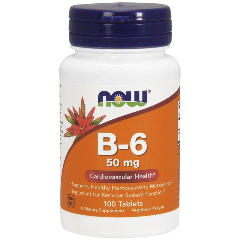 Витамин B-6, Now Foods, 50 мг, 100 таблеток
