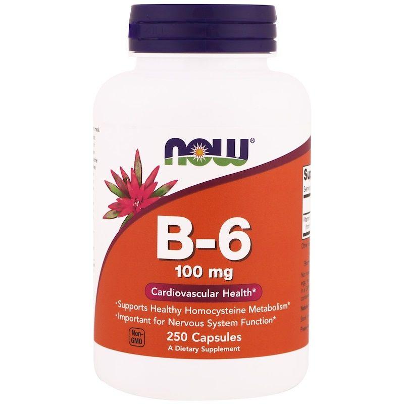 Витамин B6, Now Foods, 100 мг.