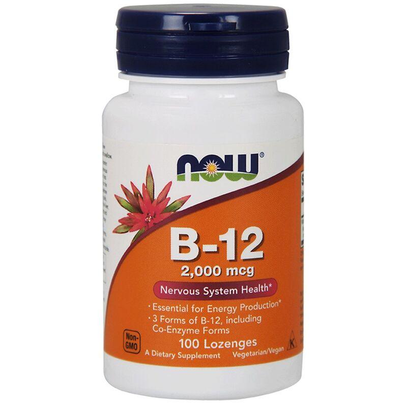 Витамин B-12, Now Foods, 2000 мкг, 100 леденцов