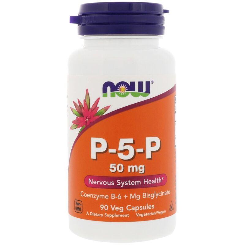 P-5-P пиридоксаль-5-фосфат, Now Foods, 50 мг, 90 капсул