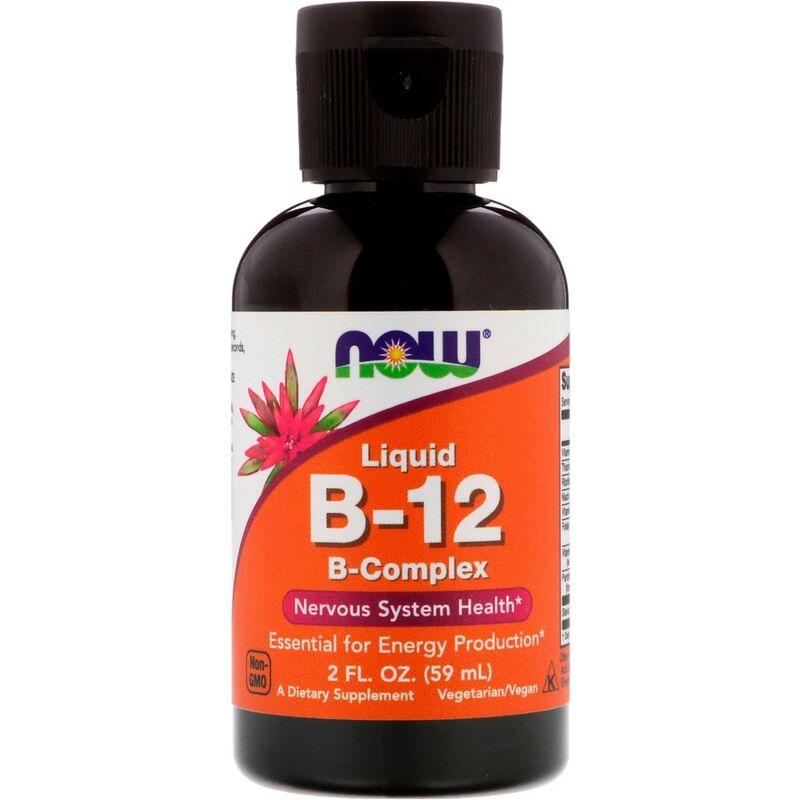 Витамин В12 комплекс жидкий, Liquid B-12, Now Foods, 60 мл