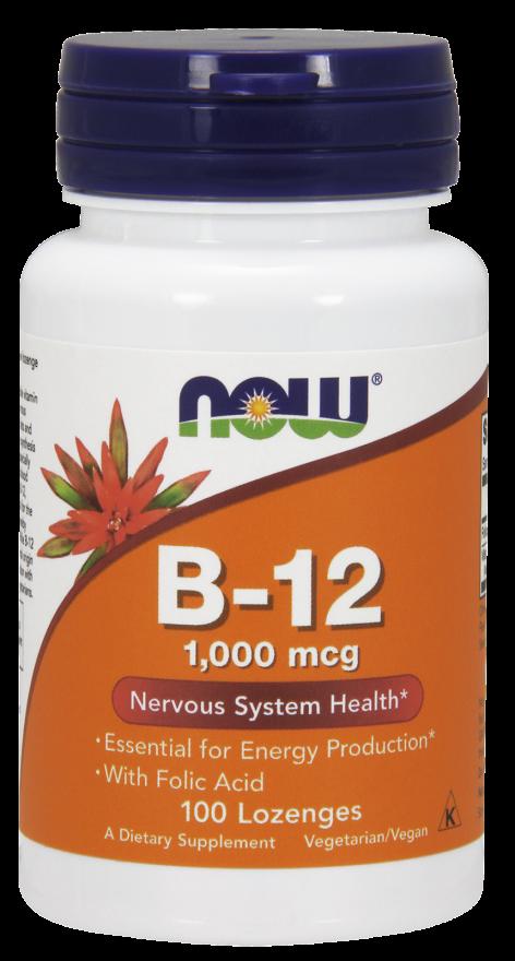Витамин В12, Now Foods, 1000 мкг, 100 леденцов