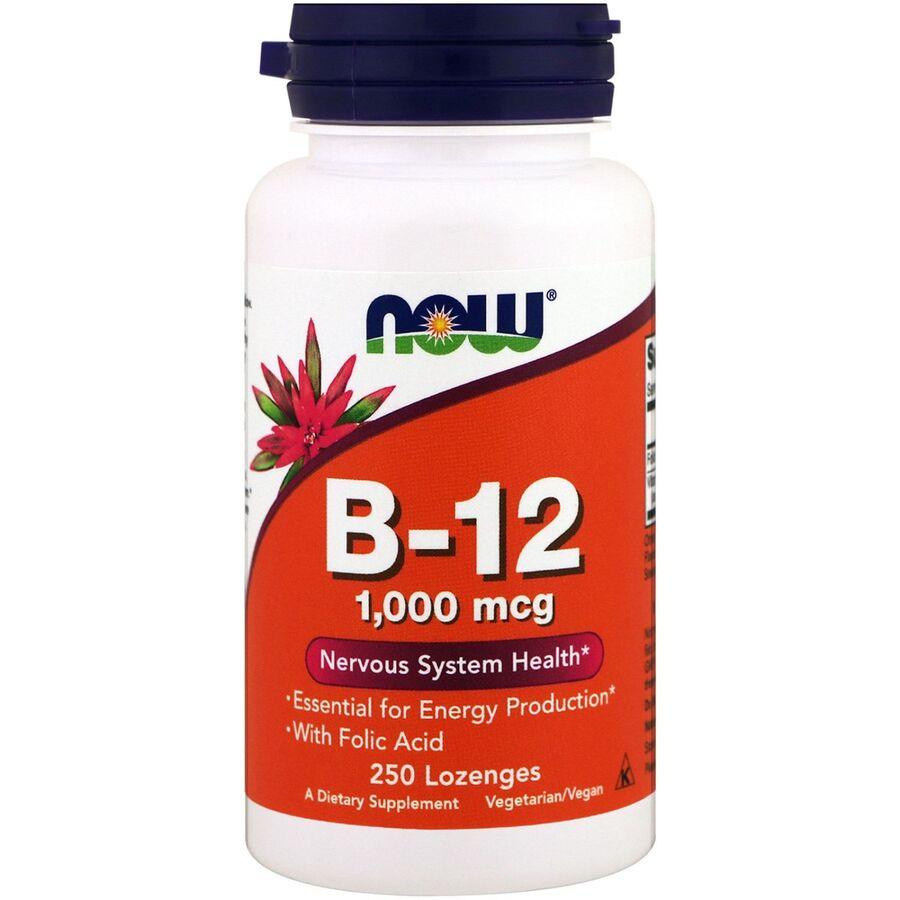 Витамин B-12, Now Foods, 1000 мкг, 250 леденцов