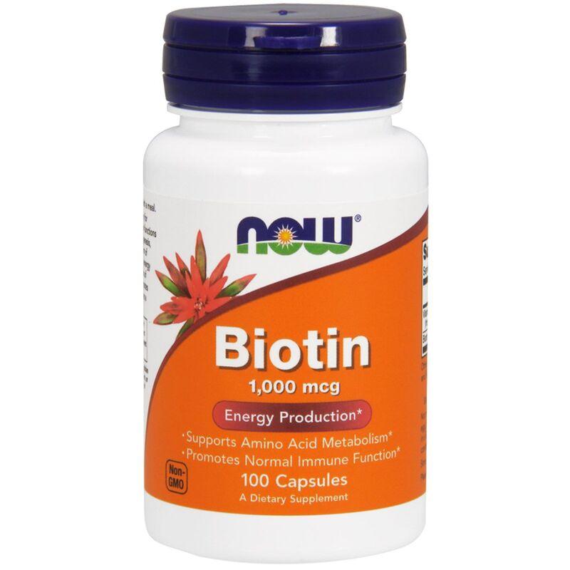Биотин, Biotin, Now Foods, 1000 мкг, 100 капсул