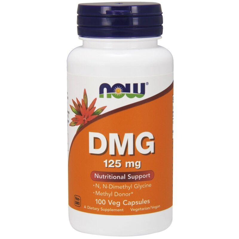 Диметилглицин, DMG, Now Foods, 125 мг, 100 капсул