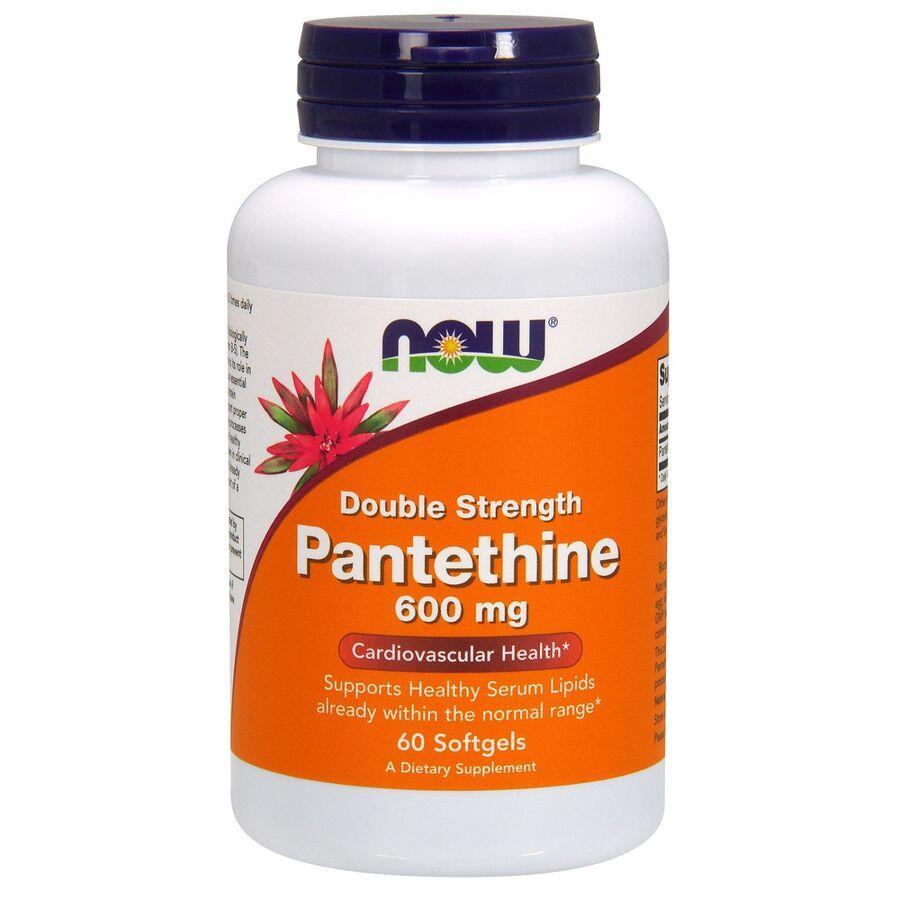 Пантетин, двойная сила, Pantethine, Now Foods, 600 мг, 60 капc.