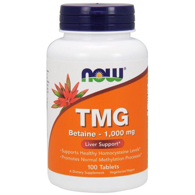 Триметилглицин (ТМГ), TMG, Now Foods, 1000 мг, 100 таблеток