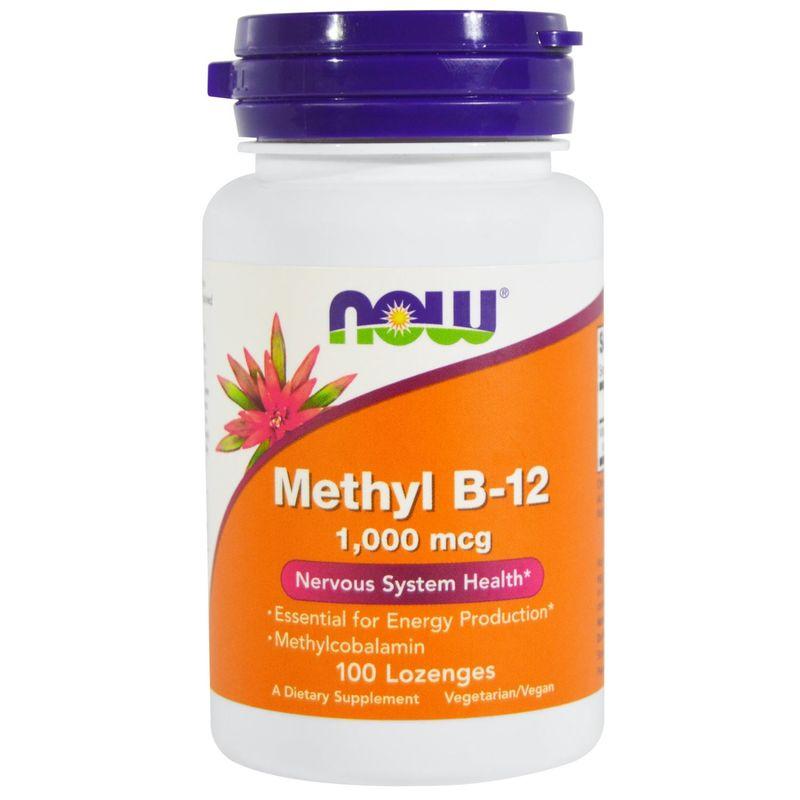 Витамин В12, Methyl B-12, Now Foods, метил, 1000 мкг, 100 леденцов