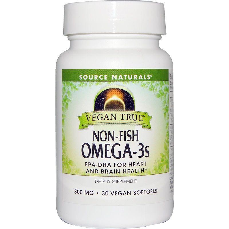 Омега-3 (морские водоросли), Source Naturals, 30 кап.
