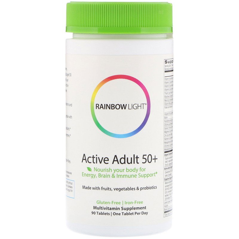 Мультивитамины 50+, Rainbow Light, 90 таблеток