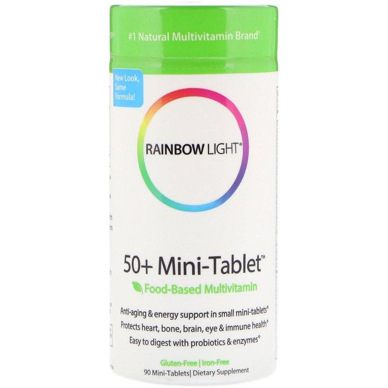 Мультивитамины 50+, Rainbow Light, 90 мини-таблеток