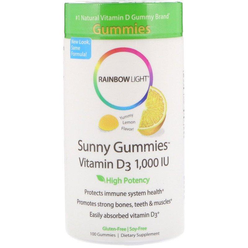 Витамин Д3, Rainbow Light, 1000 МЕ, 100 таблеток