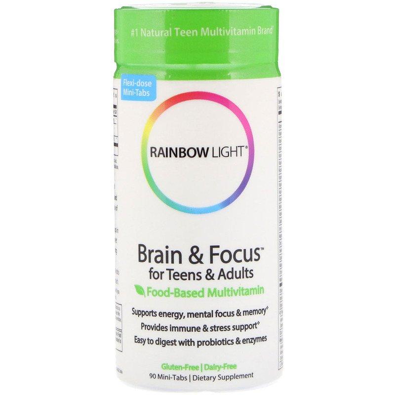 Витамины для мозга подростков, Rainbow Light, 90 таблеток