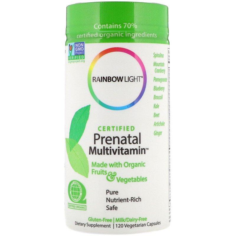 Витамины для беременных, Rainbow Light, 120 капсул